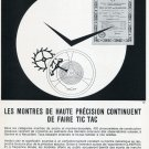 1969 Clinergic 21 Ad Advert Les Fabriques d'Assortiments Reuines Swiss Magazine Print Ad Horology