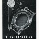 Leon Fresard SA Boites de Montres Ad Advert Vintage 1969 Swiss Magazine Print Ad Suisse Switzerland