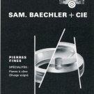 1969 Sam Baechler +Cie Switzerland Vintage Swiss Magazine Ad Print Ad Advert Suisse Horology