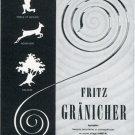 1969 Fritz Granicher SA Fabrique de Ressorts Swiss Magazine Print Ad Advert Suisse Horology