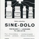 1969 Sine-Dolo Huile Extra-Fine Ad Advert Swiss Magazine Print Ad Suisse Horology Horlogerie