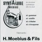 1969 Synt-A-Lube H Moebius &Fils Vintage Swiss Magazine Print Ad Advert Suisse Horology Horlogerie