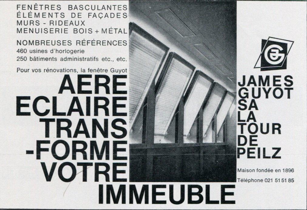 1969 James Guyot SA Switzerland Vintage Swiss Print Ad Advert Suisse Horology Horlogerie 1960's