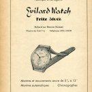 1948 Evilard Watch Company Fritz Stuck Vintage Swiss Magazine Print Ad Advert Suisse Switzerland