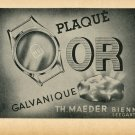 1948 Th. Maeder Galvanique Bienne Switzerland Vintage Swiss Magazine Print Ad Advert Horology