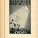 1948 Universo SA Switzerland Vintage Swiss Magazine Print Ad Advert Horology 1940's