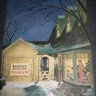 Original 1945 Plymouth Automobiles Cars Christmas Ad Vintage 1940's Magazine Advert