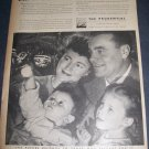Original 1945 Prudential Insurance Holiday Ad 1940's Advert Future Belongs to Those Who Prepare