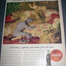 Original 1945 Coca-Cola Christmas Ad Welcoming a Fighting Man Home from the Wars 1940's Advert