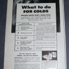 Original 1945 Sunkist Lemons What to do for Colds Vintage 1940's Print Ad Advert