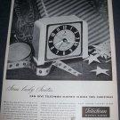 Original 1945 Ad Telechron Clock Christmas Ad Magazine Advert Warren Telechron Company 1940's