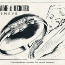 Original 1954 Baume & Mercier Watch Company Switzerland Vintage 1950s Swiss Ad Publicite Suisse