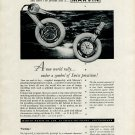 Original 1954 Marvin Watch Company Marvin Tyre Watch Ad Publicite 1950's Swiss Print Ad Suisse