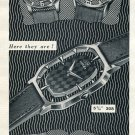 Original 1954 Slogan Watch Company Chs. Vermot & Co 1950's Swiss Print Ad Publicite Suisse