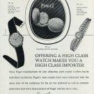 Original 1956 Piaget Watch Company Georges Piaget & Cie 1950's Swiss Print Ad Publicite Suisse