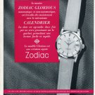 Original 1956 Zodiac Watch Company Calamie & Cie Switzerland Swiss Print Ad Publicite Suisse