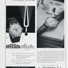 Original 1956 Arsa Alertic Watch Ad Publicite A Reymond S.A. 1950's Swiss Print Ad Advert Suisse