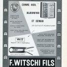 Original 1956 F Witschi Fils Switzerland 1950's Swiss Print Ad Publicite Suisse Horlogerie