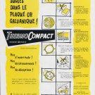 Original 1956 Thermocomact Derobert Geneve 1950's Swiss Print Ad Publicite Suisse Horlogerie