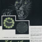 Original 1956 Unilux L Monnier & Co Cadran Radium 1950's Swiss Print Ad Advert Publicite Suisse