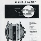 Original 1957 Swiss Watch Fair Foire de Bale Print Ad Publicite Suisse Switzerland