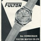 Original 1954 Fulton Watch Company Gve Homberger Swiss Print Ad Publicite Suisse Montres