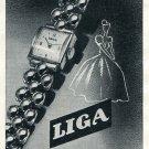 Original 1954 Liga Watch Company Fabrique d'Horlogerie Swiss Print Ad Publicite Suisse