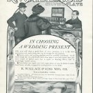 Original 1905 R Wallace & Sons Mfg Co Wallingford CT Vintage Earoy 1900's Print Ad Advertisement