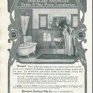 Original 1905 Standard Sanitary Mfg Co Standard Baths Bathrooms Early 1900's Print Ad Advertisement