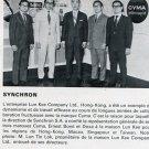 1972 Cyma Synchron SA Watch Company Ernest Borel Doxa Lun Kee Hong Kong 1970's