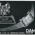 Original 1948 Damas Beguelin & Co SA Watch Co Switzerland 1940's Swiss Print Ad Publicite Suisse