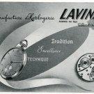 Original 1948 Lavina Watch Co Switzerland Vintage 1940s Swiss Print Ad Publicite Suisse Montres