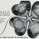 1948 Nisus SA Watch Co Switzerland Vintage 1940's Swiss Print Ad Publicite Suisse Montres