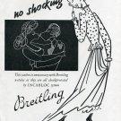 Original 1949 Breitling Incabloc No Shocking 1940's Swiss Print Ad Publicite Suisse Montres