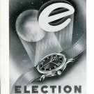 Original 1949 Election Watch Comapny Switzerland 1940's Swiss Magazine Ad Publicite Suisse Montres