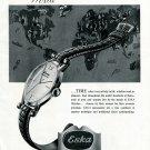 1949 Eska Watch Company Switzerland Original 1940's Swiss Print Ad Publicite Suisse Schweiz