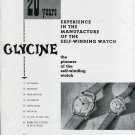 Original 1949 Glycine Watch Company 20 Years Experience 1940s Swiss Print Ad Suisse Publicite
