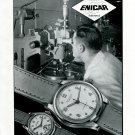 Original 1949 Enicar SA Watch Co Switzerland 1940s Swiss Print Ad Publicite Suisse Montres