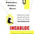 Original 1949 Incabloc Switzerland 1940's Swiss Ad Advert Suisse Publicite Suiza