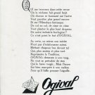 1949 Ogival SA Watch Company Switzerland Original 1940s Swiss Print Ad Publicite Suisse Montres