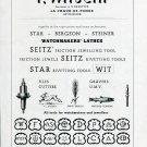 1949 F Witschi Switzerland Swiss Print Ad Suisse Publicite Horology WIT Horlogerie