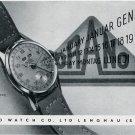 1949 Orano Watch Company Switzerland Original 1940's Swiss Ad Publicite Suisse Montres