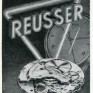 1949 Reusser Freres SA Watch Company Switzerland 1940's Swiss Print Ad Suisse Publicite Montres