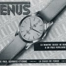 Vintage 1956 Venus Watch Co Les Fils de Paul Schwarz-Etienne Switzerland Swiss Ad Advert Suisse