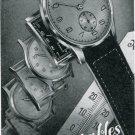 1945 Fortis Watch Company Original 1940's Swiss Print Ad Publicite Suisse Schweiz