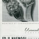 1945 Universal Geneve SA Watch Company Switzerland 1940's Swiss Print Ad Publicite Suisse Schweiz