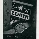 1945 Zenith Watch Company Original 1940s Swiss Print Ad Publicite Suisse Schweiz Suiza