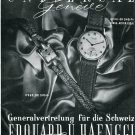 Vintage 1946 Universal Geneve Watch Company 1940s Swiss Print Ad Publicite Schweiz Suisse