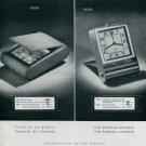 1945 Jaeger Clock Company Switzerland Original 1940's Swiss Print Ad Publicite Suisse Schweiz