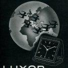 1945 Montres Luxor SA Clock Company Switzerland Swiss Print Ad Publicite Suisse Schweiz